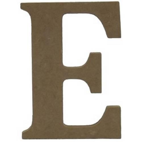 """Enfeite de Mesa Letra """"E"""" 24cm X 18mm - Madeira MDF"""
