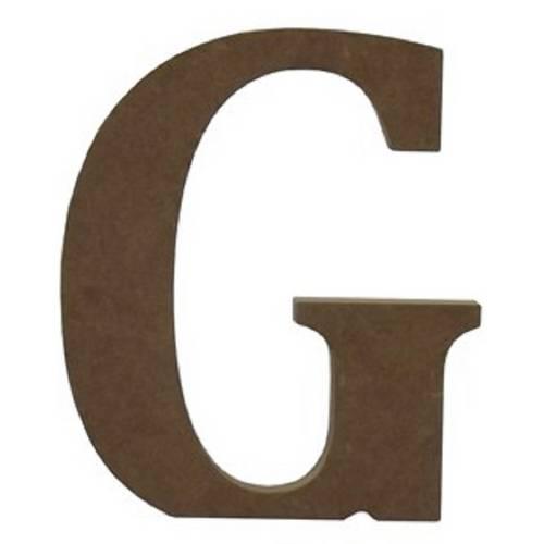 """Enfeite de Mesa Letra """"G"""" 24cm X 18mm - Madeira MDF"""
