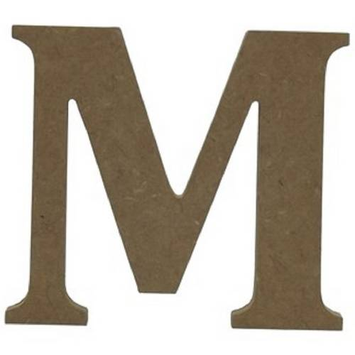 """Enfeite de Mesa Letra """"M"""" 24cm X 18mm - Madeira MDF"""
