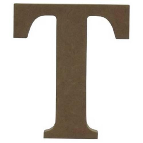 Enfeite de Mesa Letra T 18cm X 18mm - Madeira Mdf