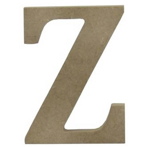 """Enfeite de Mesa Letra """"Z"""" 24cm X 18mm - Madeira MDF"""