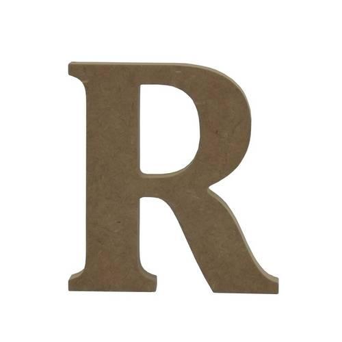 Enfeite de Mesa Letra R 12cm X 18mm - Madeira Mdf