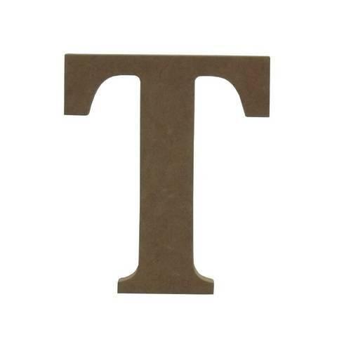 Enfeite de Mesa Letra T 12cm X 18mm - Madeira Mdf