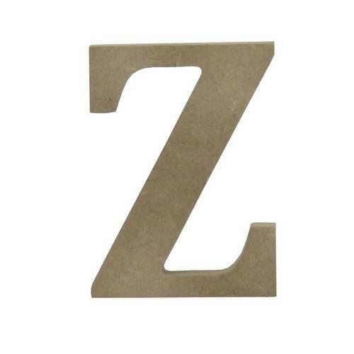 Enfeite de Mesa Letra Z 12cm X 18mm - Madeira Mdf
