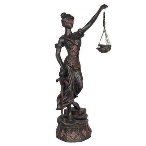 Enfeite Estátua Deusa da Justiça Balança Decorativa Grande