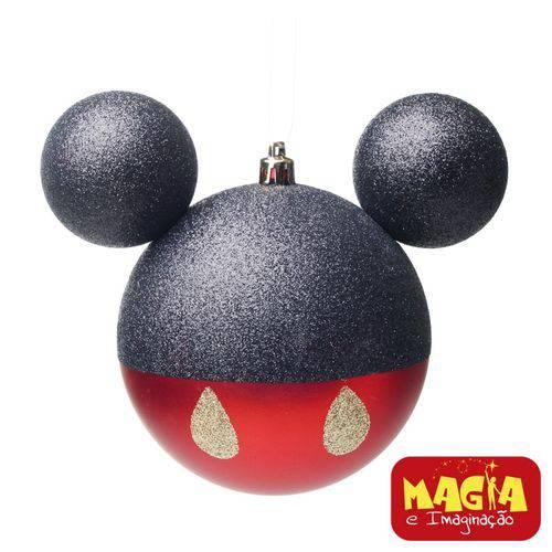 Enfeites de Natal Disney Bola Calça Mickey - Pack com 6 Bolas 6cm