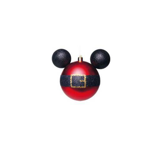 Enfeites de Natal Disney Bola Cinto Mickey - Pack com 4 Bolas 8cm