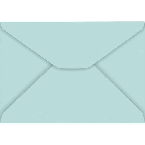 Envelope Carta Colorido 114X162Mm Azul Turquesa 85G Cx.C/100 Foroni