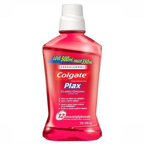 Enxaguante Bucal Colgate Plax Classic Leve 500 Pague 350ml