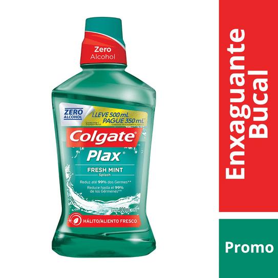 Enxaguante Bucal Colgate Plax Fresh Mint 500ml Promo Pague 350ml