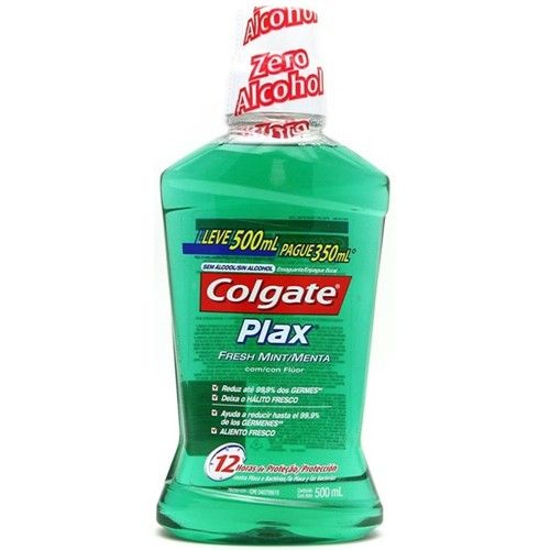 Enxaguante Bucal Colgate Plax Fresh Mint Leve 500ML Pague 350ML