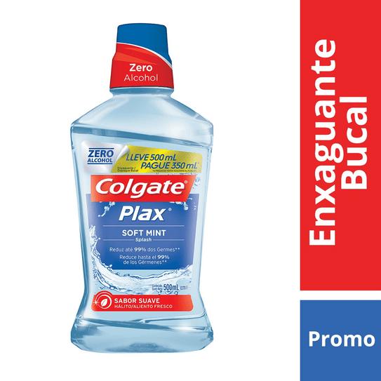 Enxaguante Bucal Colgate Plax Soft Mint 500ml Promo Pague 350ml