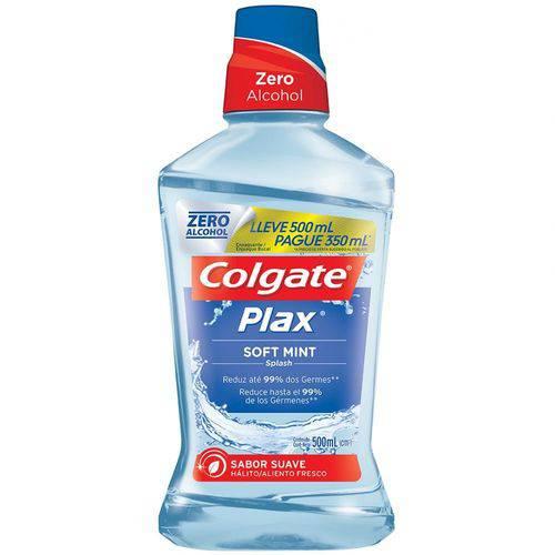 Enxaguante Bucal Colgate Plax Soft Mint Leve 500ml e Pague 350ml