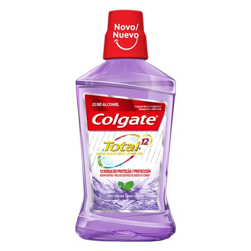 Enxaguante Bucal Colgate Total 12 Anti Tartar Sem Álcool 250ml