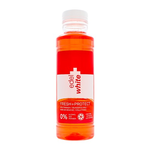 Enxaguante Bucal Edel White Fresh+Protect Sem Álcool 400ml
