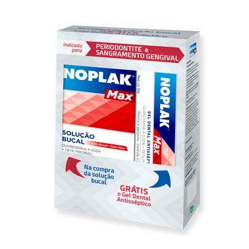 Enxaguante Bucal Noplak Max 250ml Grátis Gel Dental 50g