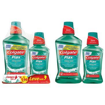 Enxaguante Bucal Colgate Plax Fresh Mint 500ml Promo Leve 500ml Pague 250ml