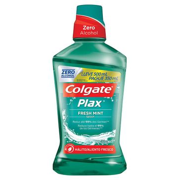 Enxaguante Bucal Colgate Plax Fresh Mint 500ml Promo Leve 500ml Pague 350ml