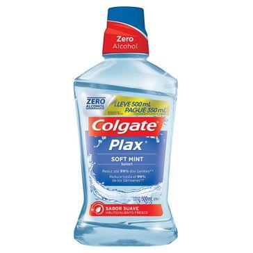Enxaguante Bucal Colgate Plax Soft Mint 500ml Promo Leve 500ml Pague 350ml