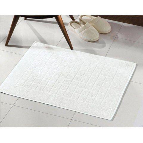 Toalha de Piso Dohler -Felpudo Royal Liso Branco