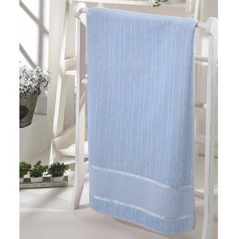 Enxovais Banho Adulto Toalha Rosto Dohler -Velour P/ Bordar Bella Liso Azul
