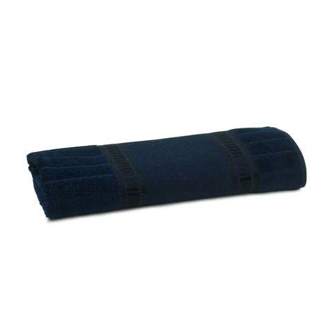 Enxovais Banho Bebe Toalha Mao Buettner -Caprice Luxo Navy Blue