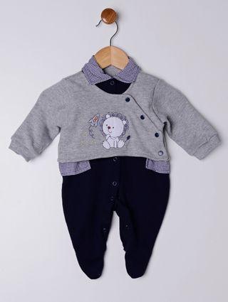 Enxoval Infantil para Bebê Menino - Cinza/azul Marinho