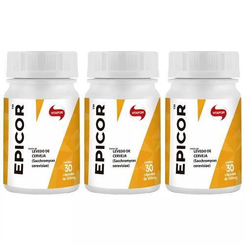 Epicor (Levedo de Cerveja) - 3x 30 Cápsulas - Vitafor