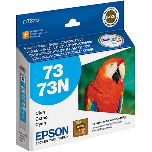 Epson 73N Ciano T073220 1 Un Cartucho de Impressora