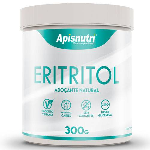 Eritritol Adoçante Natural Apisnutri 300G