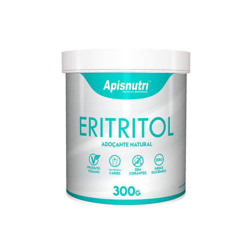 Eritritol Adoçante Natural com 300g da Apisnutri