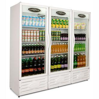 ERV-1300 Expositor Refrigerado Vertical Branco CONSERVEX