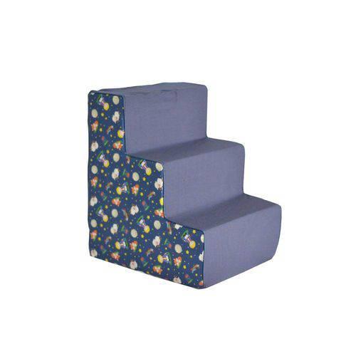 Escada Escadinha Pet Estampa o Pequeno Principe Cães Gatos 3 Degraus