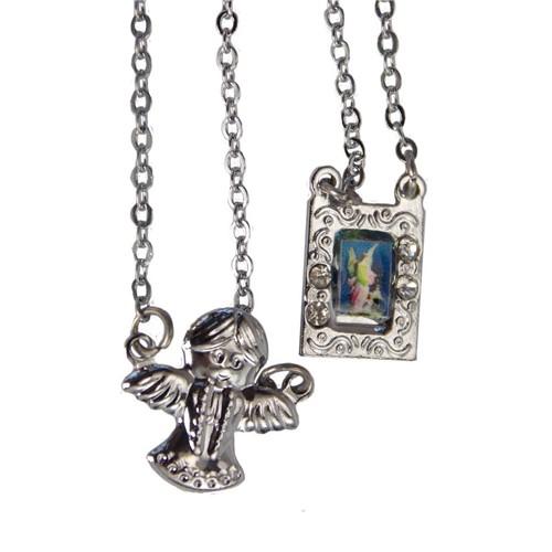 Escapulário de Inox Anjo da Guarda | SJO Artigos Religiosos