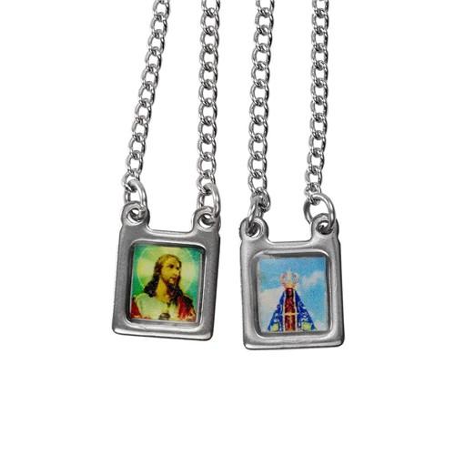 Escapulário de Inox Aparecida Mini | SJO Artigos Religiosos