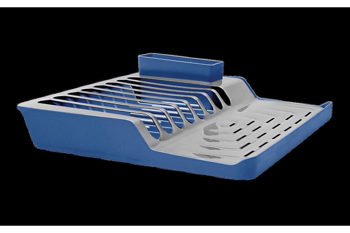 Escorredor de Pratos Minimal - Linha Pia 36,8 X 35,35 X 9,8 Cm Azul Brinox