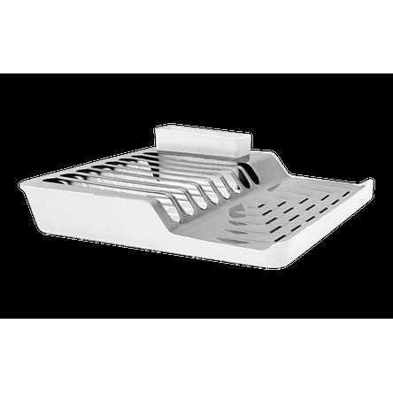 Escorredor de Pratos Minimal - Linha Pia 36,8 X 35,35 X 9,8 Cm Branco Brinox