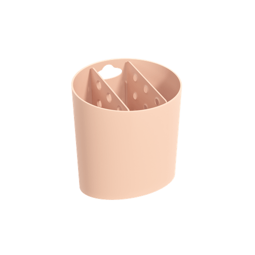 Escorredor de Talheres Basic 13,8 X 10,5 X 14,4 Cm Rosa Blush Coza