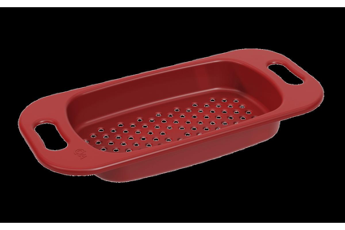 Escorredor para Pia Basic 47,2 X 21,2 X 6,3 Cm Vermelho Bold Coza