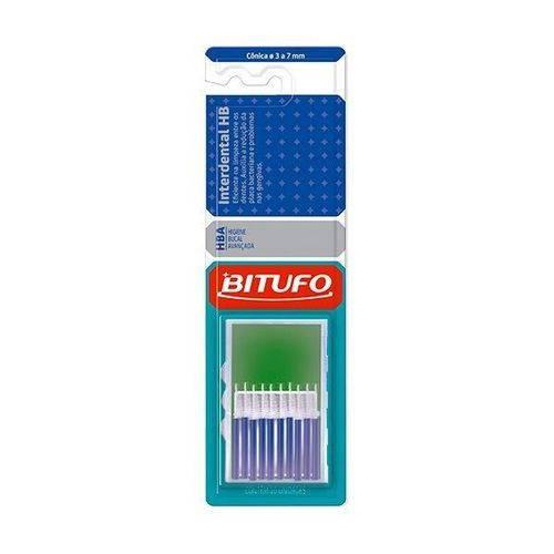 Escova Bitufo Interdental Cônica 3 a 7mm Azul
