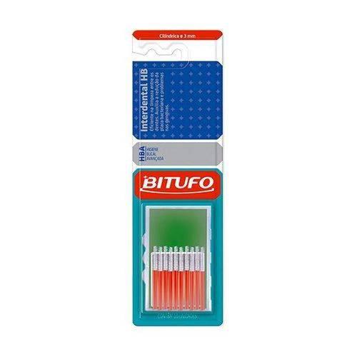 Escova Bitufo Interdental Hb Cilíndrica Extrafina 3mm Branca