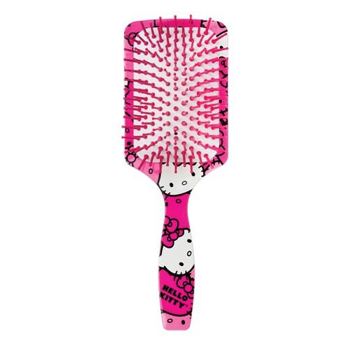 Escova de Cabelo Raquete Ricca Hello Kitty Faces Ref 1131 com 1 Unidade