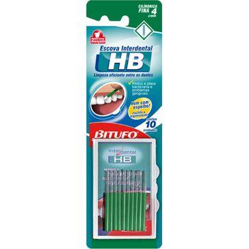 Escova de Dente Bitufo Interdental HB Cilíndrica Fina
