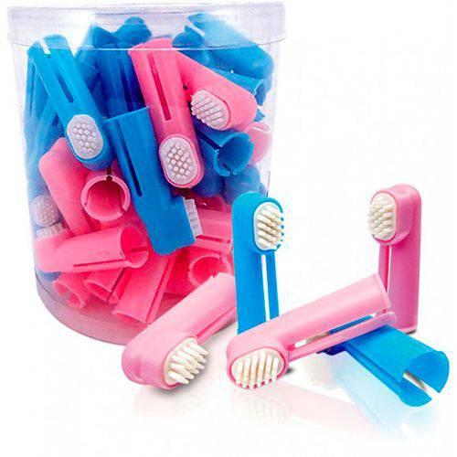 Escova de Dente Dedal Nylon - Kit com 10 Unidades