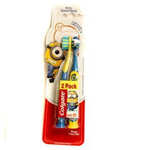 Escova de Dente Smiles Minions Colgate 02 a 05 Anos com 02 Unidades