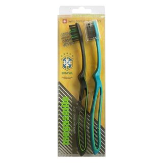 Escova de Dentes Edel White - Black Whitening Loop Duo com 2 Unidades Kit