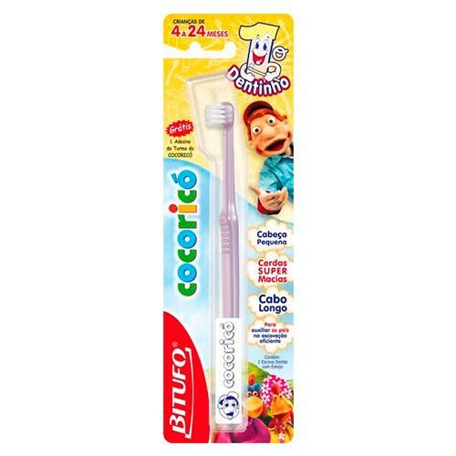 Escova Dental Bitufo Cocoricó 1º Dentinho 1 Unidade