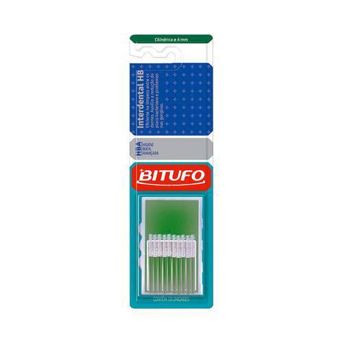 Escova Dental Bitufo Interdental Cilíndrica - 4Mm 10 Unidades