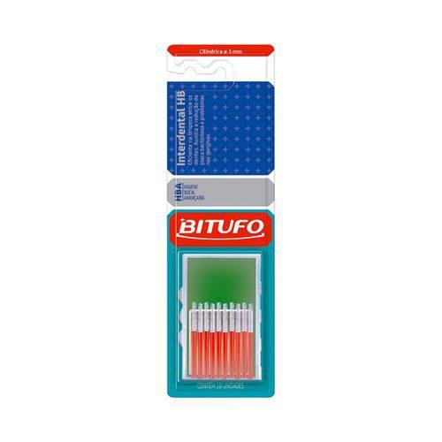 Escova Dental Bitufo Interdental - Extra Fina 3Mm 10 Unidades