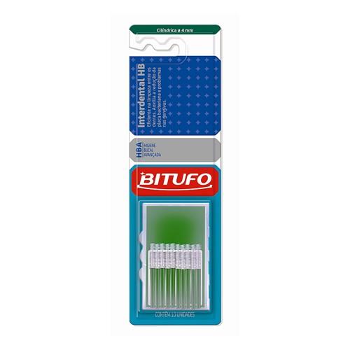 Escova Dental Bitufo Interdental HB Cilíndrica 4 Mm com 10 Unidades